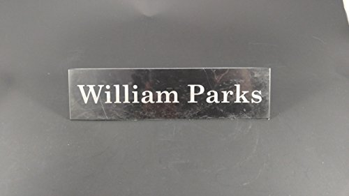 Name Plate Made of Black Marble Etched