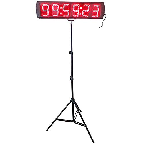 - CGOLDENWALL 5'' Large LED Marathon Race Timing Clock 10m Remote Control Red 6 Digits Outdoor Sport Race Timer Countdown/up Digital Timer Clock with Tripod for Sports Event 12/24 Hour
