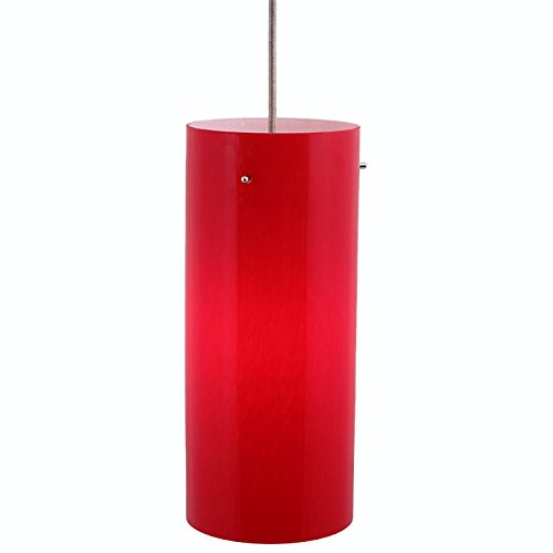 Direct-Lighting DPN-49319-RED 1-Light 5-inch wide Mini Pendant Light, Red Glass Shade (Canopy Line Mount Red)