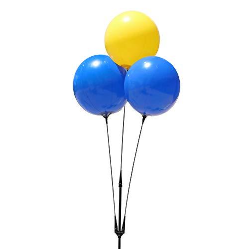 Balloon Bobber - Weatherproof Reusable Balloon Triple Cluster Pole Kit - Helium Free Plastic Outdoor Balloons