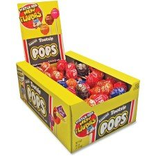 Tootsie 0508 Tootsie Pops, 0.6 oz, Assorted Flavors, 100/Box]()