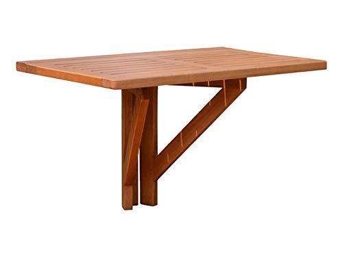 Amazon De Spetebo Eukalyptus Balkontisch 60x40 Cm Holz