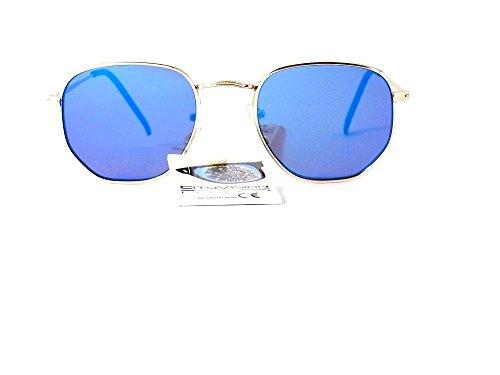 2018 de 2019 Revo lunettes Verres mode 015317 homme Bleu Monture soleil Or femme cityvision tfw6Z6qxd