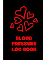 Blood Pressure Log Book: Record and Monitor Your Health at Home Daily. Simple and Organized Notebook, One Year Diary Journal Book, 100+ Pages in Portable size to Track your Pulse and Blood Pressure – Red Hearts Cover