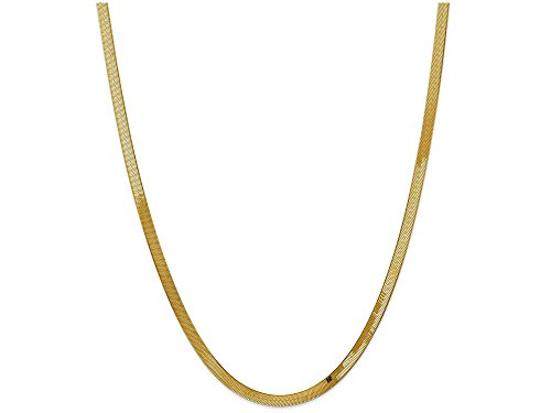 - Finejewelers 16 Inch 14k Yellow Gold 4.0mm Silky Herringbone Chain Necklace