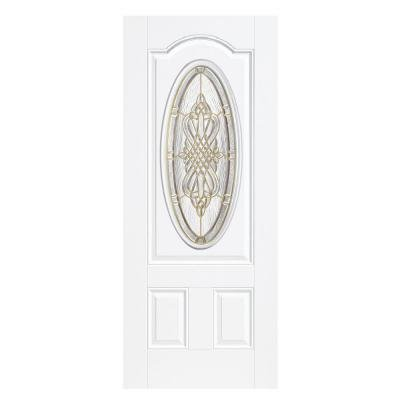 Masonite New Haven 36 In X 80 In White Prehung Right Hand Outswing
