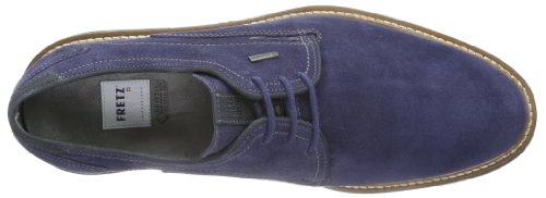 FRETZ men Locarno - Zapatos de cordones derby Hombre Gris (Grau (indaco/blu 52))