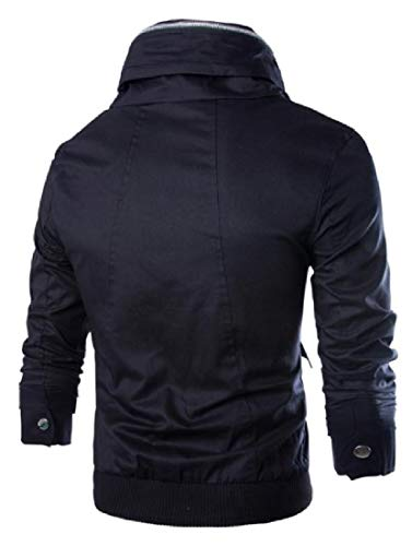 Howme Full Jackets Black Pocket Fashion Zip Men Overcoat Windproof Multi r5zw8rqp