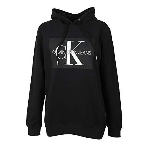 Calvin Klein Jeans J20J208559 Monogram Box HD Sweat-Shirt Femme Black M