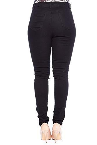 c3df80434ca Jack David Pasion Womens Plus Size Black White Denim Jeans Destroy Stretch  Ripped Distressed Pants
