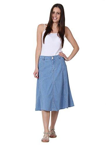 Mid-length Denim Skirt A-line Lightwash Denim Midi for sale  Delivered anywhere in USA