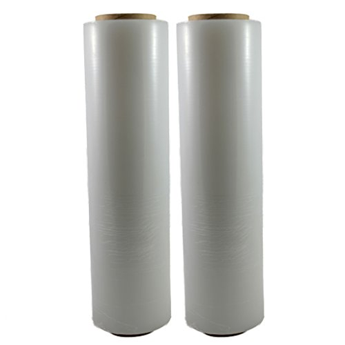 "TOTALPACK - 18"" x 1000 FT Roll - 85 Gauge Thick + Hybrid technology, 2 Pack. Stretch Moving & Packing Wrap. Industrial Strength, Clear Plastic Pallet Shrink Film Ideal For Furniture, Boxes, Pallets... from Totalpack"
