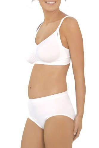 Seamless Post Birth Shapewear Pants-White-L by Carriwell