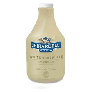 Ghirardelli White Chocolate Flavored Sauce | 89.4 fl oz. | Desserts & Ice Cream - 4 Pack by Ghirardelli (Image #1)