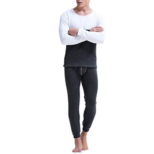Set Térmica Para Ropa Cálido Espesar Trousers Hombre Oscuro Interior Moda Base Gris Capa Forrado Conjunto Polar Invierno Algodón De Top 11rYPdx