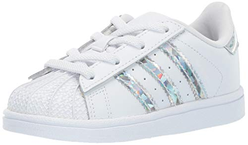 Price comparison product image adidas Originals Baby Superstar Running Shoe,  White,  7.5K M US Toddler