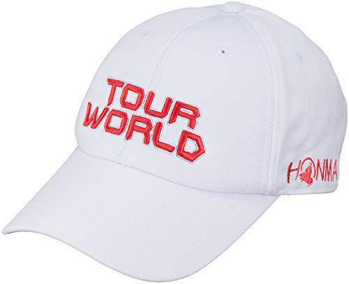 本間ゴルフ TOUR WORLD 831-419601 メンズ ホワイトレッド FREE(57~59cm)