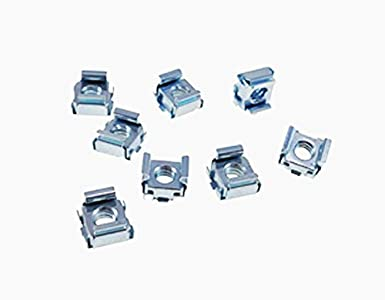 4 Pack 12-24 Self-Retaining Cage Nuts 3//8 Panel Hole Size BFC7941-1224