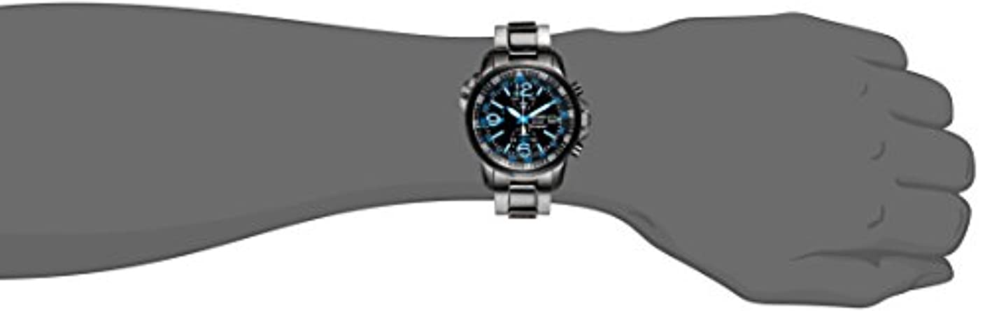 Seiko Men s SSC079 Adventure-Solar Black Stainless Steel Solar-Power Watch