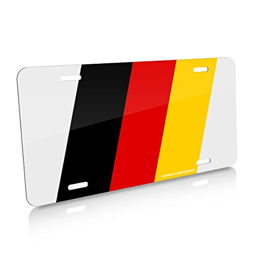 CarBeyondStore German Flag Racing Style Aluminum Auto License Plate