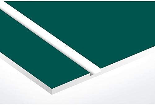 Lettres blanches vert fonc/é lettres blanches 99x24mm 2,5 cm Plaque vert fonc/é plaque boite aux lettres Edelen NUMERO