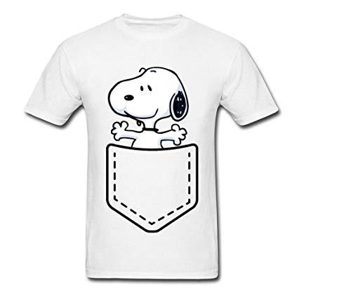 (Pocket Peanuts Cartoon T Shirt Dog Bull Terrier Funny Tshirts For Men Fashion Sweater Funny T-Shirts T Shirt T-Shirt ver 2 )