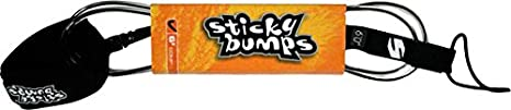 Action Sports Leashes Sticky Bumps Reg 8 Leash Clear/Black by Sticky Bumps