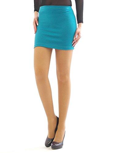 A Business Matita Turquoise Mini Casual Gonna Yeset Minigonna Aderente Stretch TF1JKcl3
