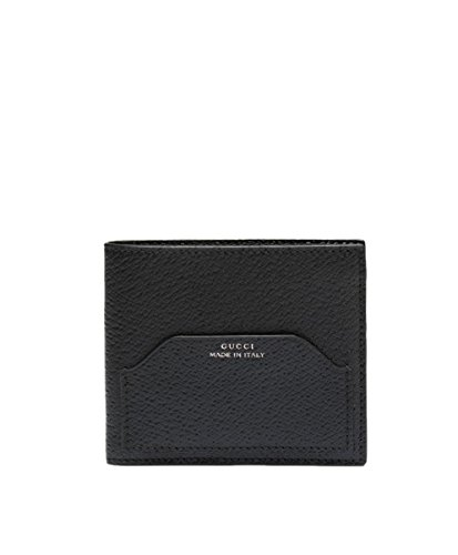 Gucci Textured Leather Bi-fold Wallet with Coin Pocket, Black - Credit Gucci Card