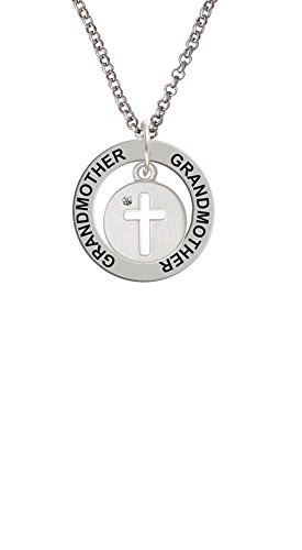 - Cross Silhouette - Grandmother Affirmation Ring Necklace