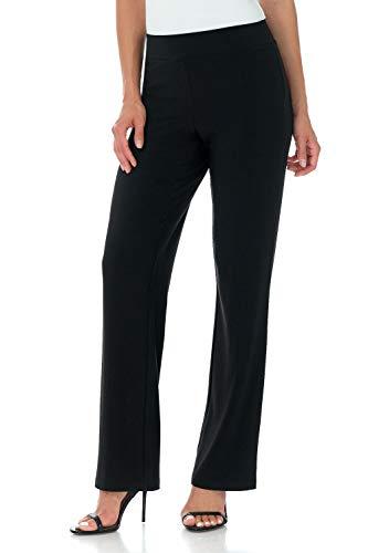 (Rekucci Travel in Style - Women's Classic Straight Leg Pant (XX-Large,Black))