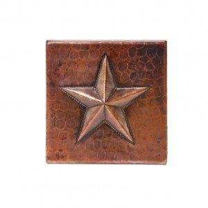 Copper Star Tile (Hammered Copper Star Tile - Set of 8)