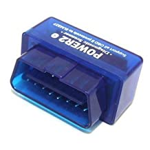 Supper Mini OBD2 OBD-II Android Bluetooth CAN-BUS Auto Diagnostic Tool- Works With all OBD-II Compliant Vehicles(Blue)