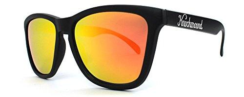 Knockaround Classics Polarized Sunglasses, Black Frame/Orange Lens