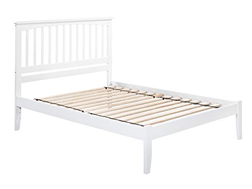 Atlantic Furniture AR8741002 Mission Platform Bed with Open Foot Board, Queen, White