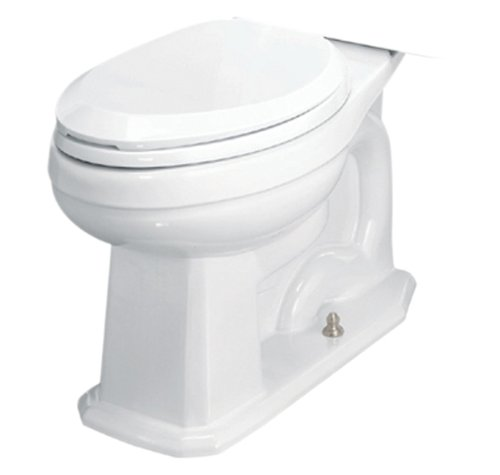 St. Thomas Creations 6123.013.01 Neo-Venetian Round Front Toilet Bowl with Seat, White Finish