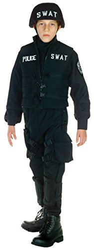 [Boys Swat Kids Child Fancy Dress Party Halloween Costume, S (4-6)] (Comical Halloween Costumes)