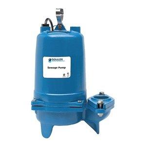 Submersible Sewage Pump, 1HP, 460V, 53 ft.