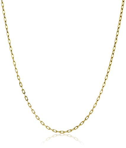 14k Yellow Gold Italian 1.90mm Diamond-Cut Anchor Link Chain Necklace, 18