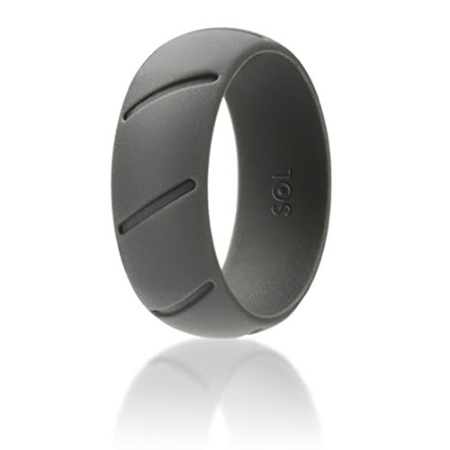 Amazon Com Sol Mens Rubber Wedding Ring Grey Silicone Wedding