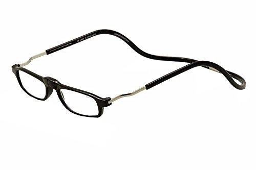 Clic Executive Single Vision Full Frame Designer Reading Glasses, Black, - Glasses Vision Frames