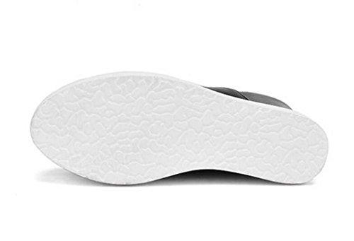 en Baja XIE Talón Correas de White Zapatos para Altura de Ayudar 43 Cruzada los Agua Las Plataforma a a BLACK de Cuña Prueba 38 SSw68q