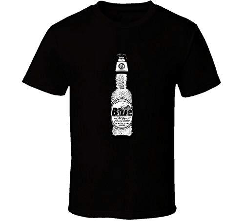 Robeni Men's Black Generic Cotton Labatt Blue Beer Bottle Brands Cartoon Look T Shirt