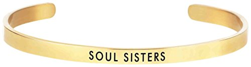 """Occasionally Made 0.02""""x2"""" Soul Sisters Gold Message Band..."""