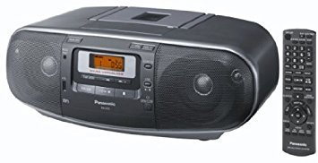Panasonic RX-D55GU Boombox High Power Portable Stereo AM / FM Radio, MP3 CD , Tape Recorder with USB & Music Port Sound with 2Way 4-Speaker, 220 Volt
