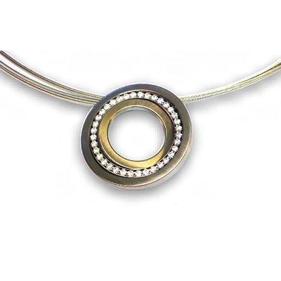 Collier-Éléments cercle-Or/Argent