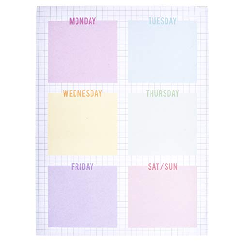Graphique Weekly Grid Large Notepad - Fun Notepad w/ 150 Custom Sheets to Stay On Task Daily: Take Notes, Recall Important Responsibilities, Set Goals 6