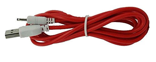 Red Color 1.8 Meter (6 Feet) Long Data and Charging Cord for NABI 2 II NABI2-NV7A and NABI2-NVA (USB-DC-RD-2M)