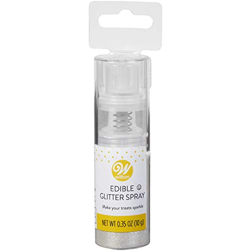 Wilton Edible Silver Glitter Spray, 0.35 oz. ()