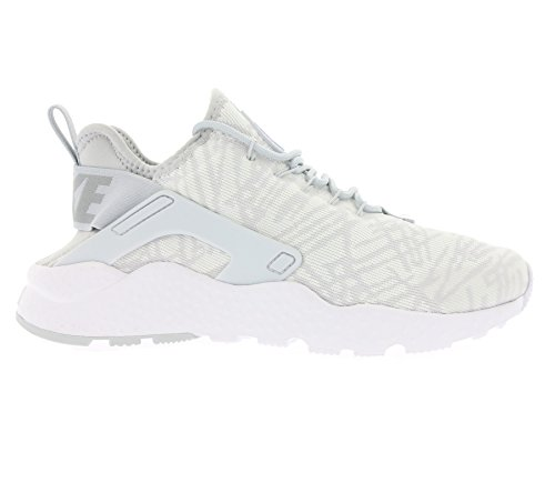Nike Womens W Air Huarache Run Ultra Kjcrd Bianco / Tessuto Metallico Argento Bianco / Metallico Argento-metallico Argento-lupo